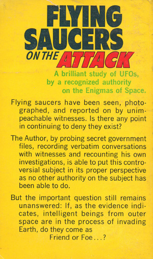 Flying Saucers On The Attack-back